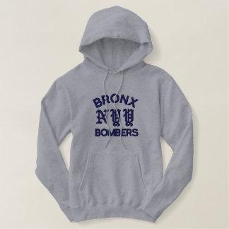 Moletom Bordado Com Capuz Bombardeiros de Bronx