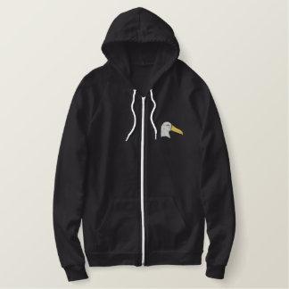 Moletom Bordado Com Capuz Cabeça do albatroz