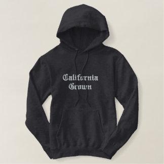 Moletom Bordado Com Capuz Califórnia crescida