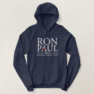 Moletom Bordado Com Capuz Camisa bordada de Ron Paul 2012