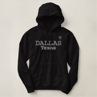 Moletom Bordado Com Capuz Camisola preta de Dallas da galeria de Amiot