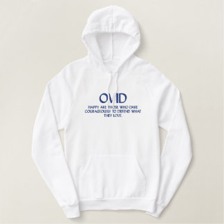 Moletom Bordado Com Capuz Citações de OVID - camisola encapuçado