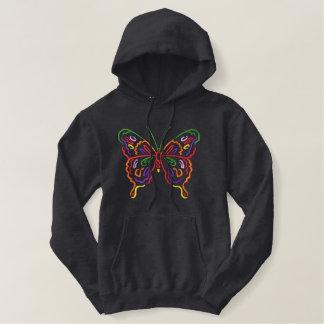 Moletom Bordado Com Capuz Grande borboleta