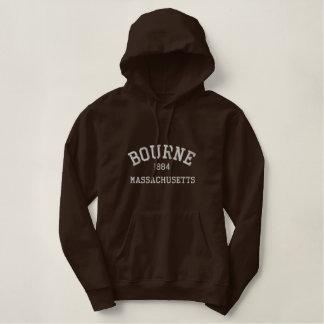 Moletom Bordado Com Capuz Hoodie maciço de Bourne