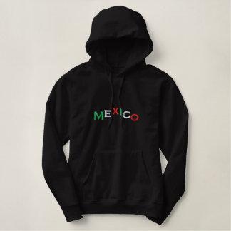 Moletom Bordado Com Capuz Pulôver, México, montanha, tri cor, bordada