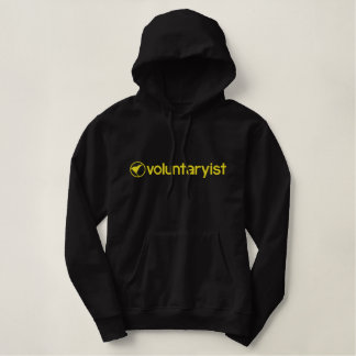 Moletom Bordado Com Capuz Voluntaryist bordou o Hoodie