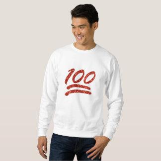 Moletom brilho cem camisolas dos homens do emoji