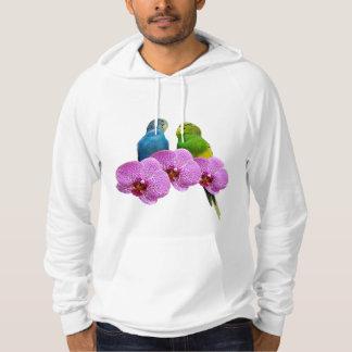 Moletom Budgie com orquídea roxa