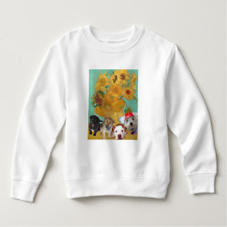 Moletom Cães bonitos com girassóis de Van Gogh