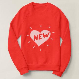 Moletom Camisola americana nova do coração/roupa das
