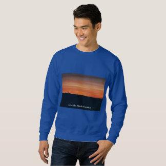 Moletom Camisola azul com design do por do sol