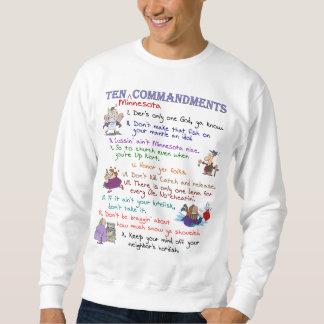 Moletom Camisola básica de dez mandamentos de Minnesota