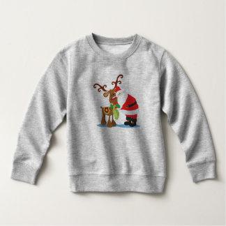 Moletom Camisola bonita de Papai Noel e de rena |