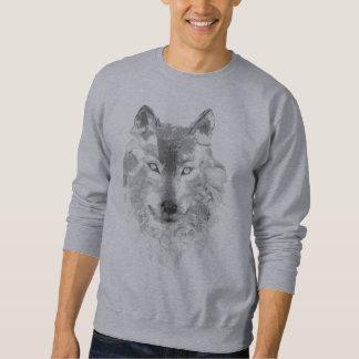 Moletom Camisola cinzenta do lobo da aguarela