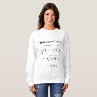 Moletom Camisola da chalaça da matemática das mulheres