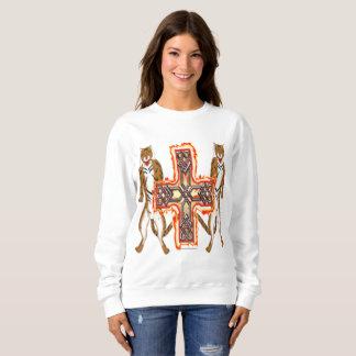 Moletom Camisola das senhoras da cruz do Celt do tigre