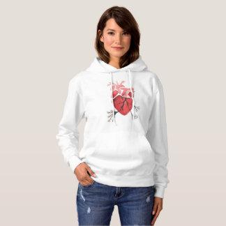 Moletom Camisola de florescência do coração