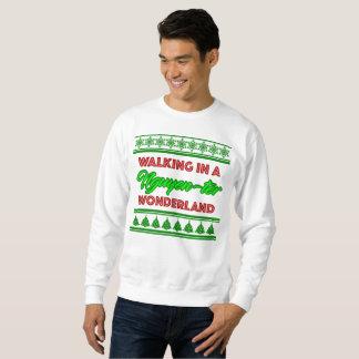 Moletom Camisola do branco do Natal do país das maravilhas