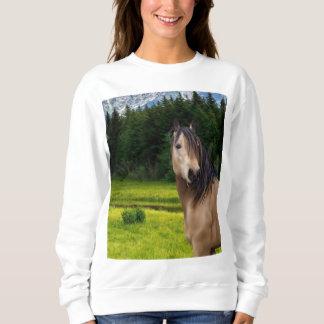 Moletom Camisola do cavalo do Buckskin