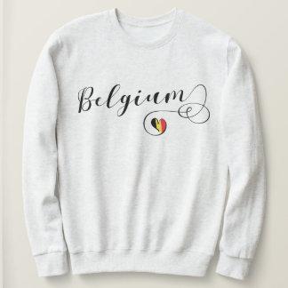 Moletom Camisola do coração de Bélgica, bandeira belga