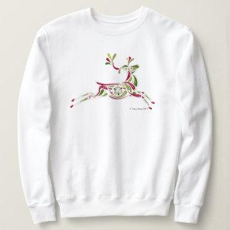 Moletom Camisola do feriado da rena das mulheres