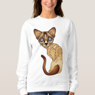 Moletom Camisola do gato Siamese