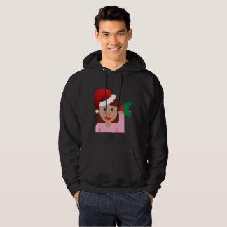 Moletom camisola do hoodie dos homens do emoji da menina