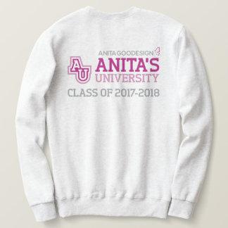 Moletom Camisola do logotipo da universidade de Anita