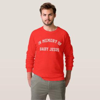 Moletom camisola do Natal de jesus do bebê