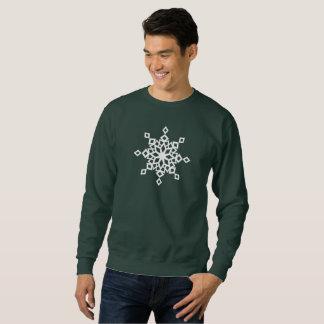 Moletom Camisola do Natal do floco de neve do desenhista