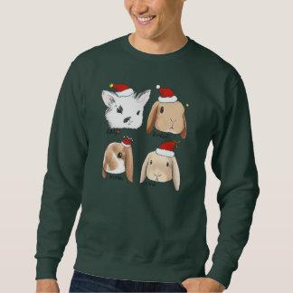 Moletom Camisola do Natal do grupo do coelho