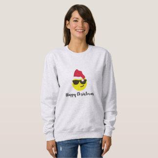 Moletom Camisola do Natal feliz de Emoji