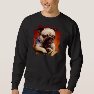 Moletom Camisola do Pug de Bowtie