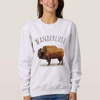 Moletom Camisola do WANDERLUST: Búfalo americano (bisonte)