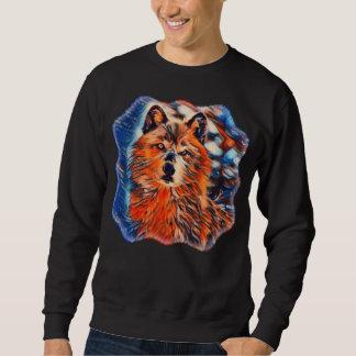 Moletom Camisola dos animais selvagens de Woves do lobo