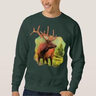 Moletom Camisola dos animais selvagens dos alces de Bull