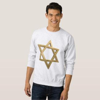 Moletom camisola dos homens da estrela de David do