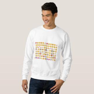 Moletom camisola dos homens do emoji