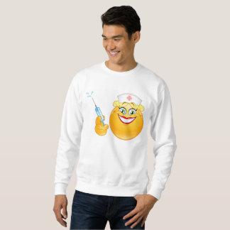 Moletom camisola dos homens do emoji da enfermeira