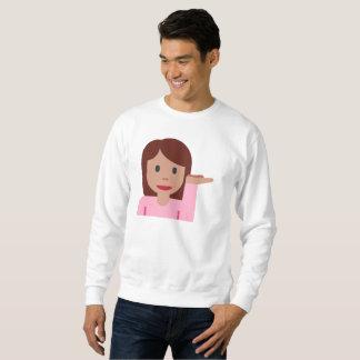 Moletom camisola dos homens do emoji da mulher