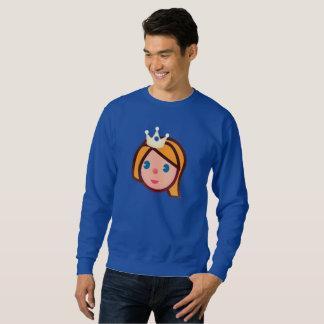 Moletom camisola dos homens do emoji da princesa