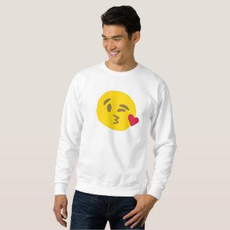 Moletom camisola dos homens do emoji do beijo