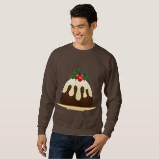 Moletom camisola dos homens dos pudins do Natal