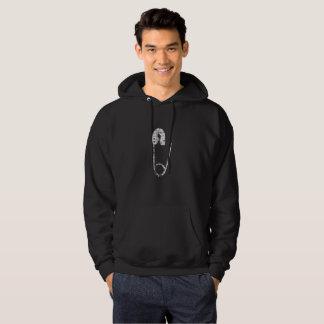 Moletom camisola encapuçado do hoodie de prata dos homens