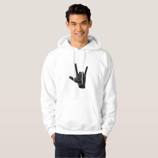 Moletom camisola encapuçado do hoodie dos homens da mão