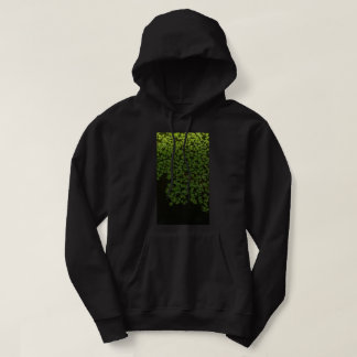 Moletom camisola encapuçado do salpico verde