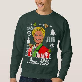 Moletom Camisola feia deplorável do Natal de Hillary
