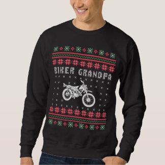 Moletom Camisola feia do Natal da motocicleta do vovô do