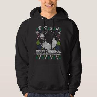 Moletom Camisola feia do Natal da raça do cão de border