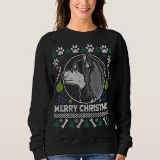 Moletom Camisola feia do Natal da raça do cão do rouco